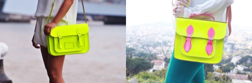 satchel neon yellow